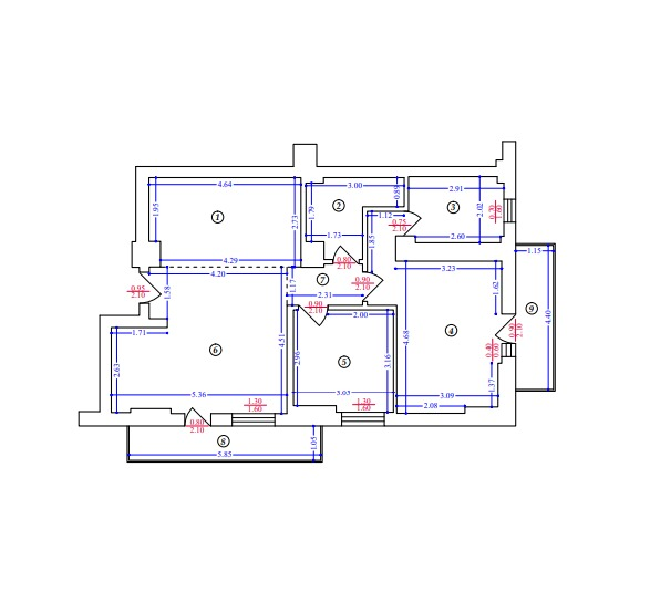 butterfly-residence-apartament 3 camere-tip-1-plan-tehnic